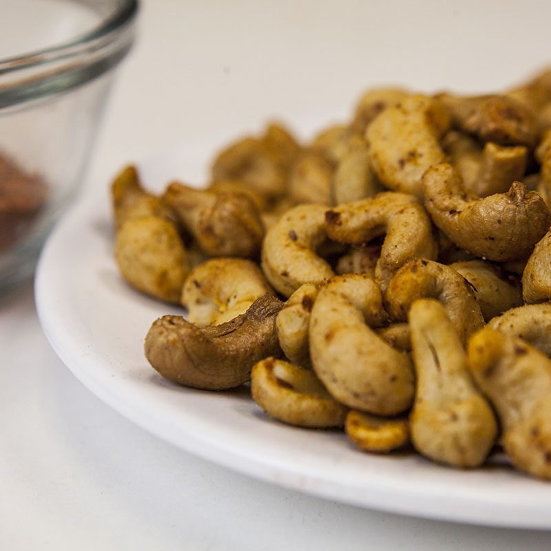 Hot Spiced Cashews