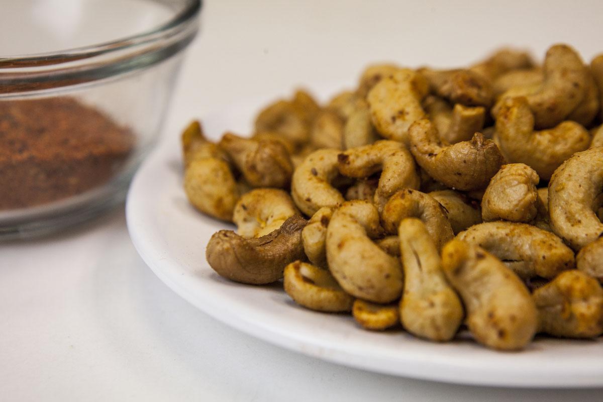 Hot Spiced Cashews